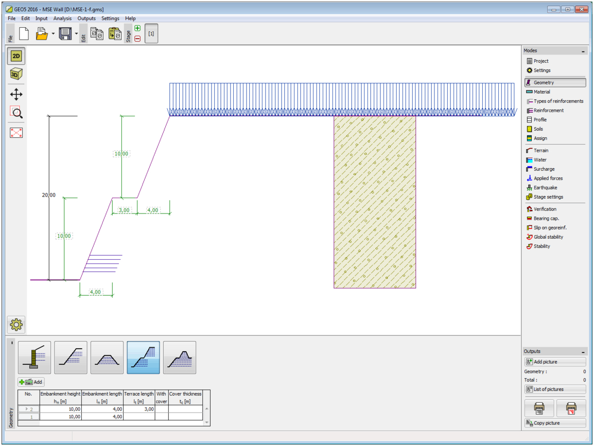 Geotechnical Excel Spreadsheets Within Mse Wall Design  Graphic Up Design