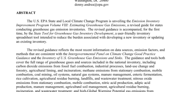 Ghg Calculation Spreadsheet With Regard To Pdf Stateoftheart Greenhouse Gas Emission Inventory Guidance And
