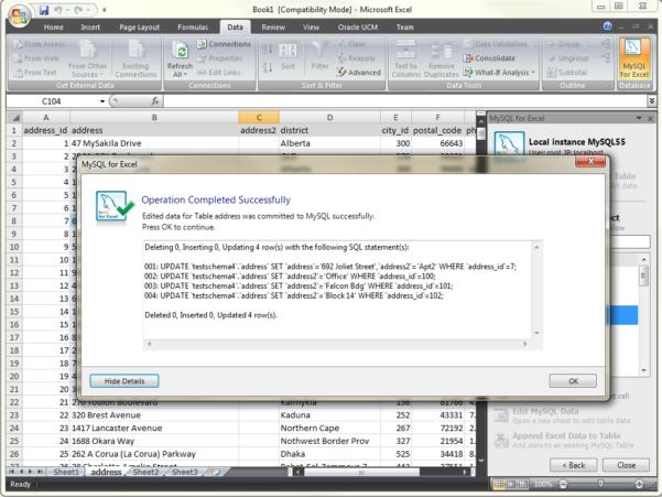 Gic Ladder Spreadsheet Regarding Mysql :: New! Mysql For Excel: Edit Data