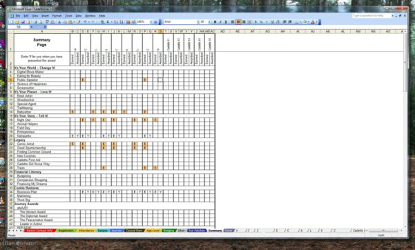 Girl Scout Spreadsheet Pertaining To Girl Scout Trax Spreadsheets : Girlscouts