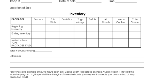 Girl Scout Spreadsheet With Regard To Girl Scout Cookies Tracking Spreadsheet Sheet Booth Worksheet Girl Scout Spreadsheet Google Spreadsheet