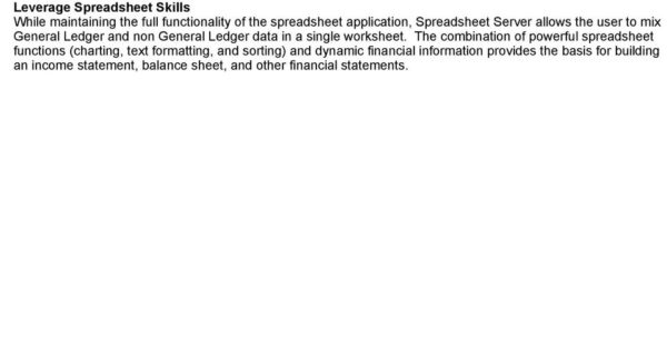 Global Software Inc Spreadsheet Server With Regard To Global Software, Inc.'s Spreadsheet Server For Use With Infinium