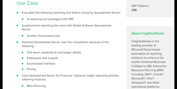 Global Software Inc Spreadsheet Server With Regard To Insightsoftware Bergstrom  Techvalidate