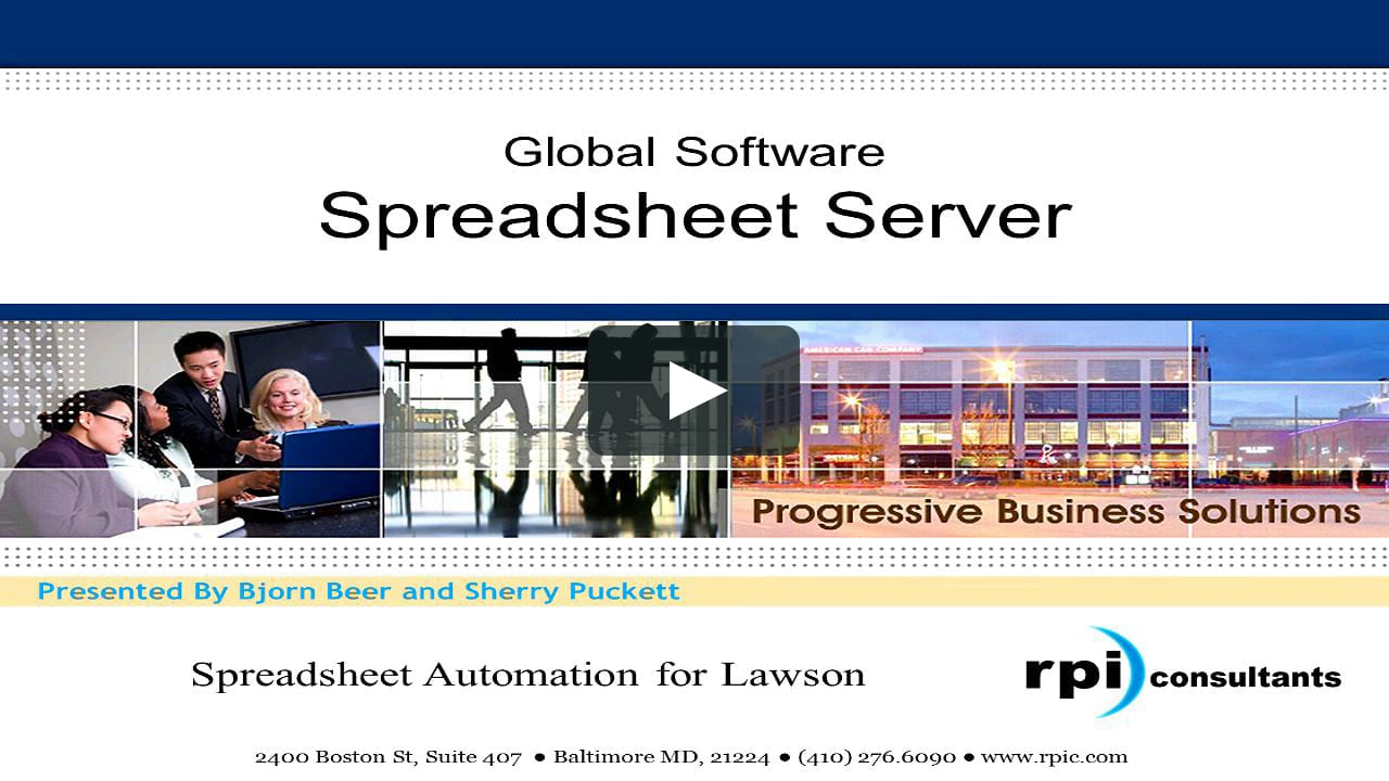 Global Software Spreadsheet Server Throughout Spreadsheet Serverglobal Software On Vimeo