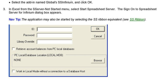 Global Spreadsheet Server Regarding Global Software, Inc.'s Spreadsheet Server For Use With Infinium