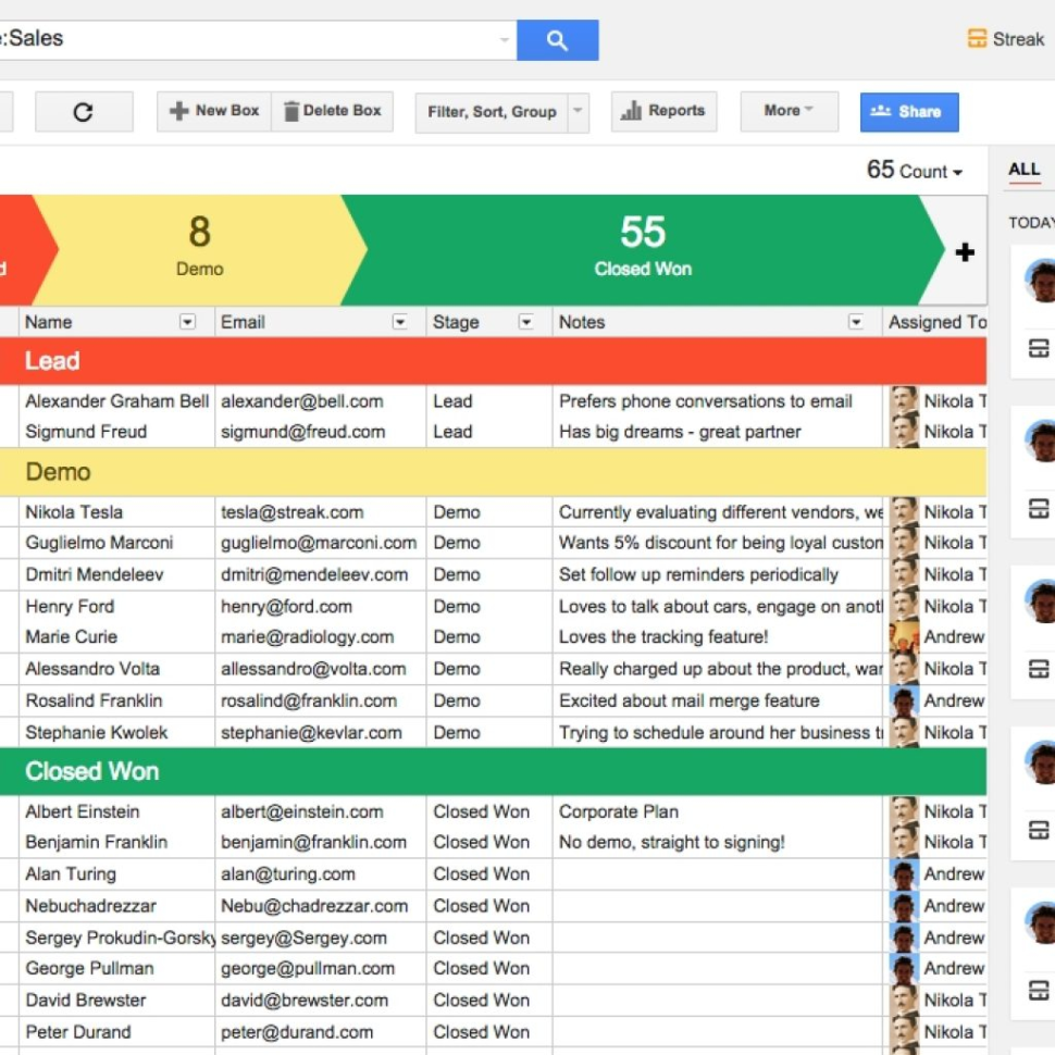 Gmail Spreadsheet For Streak  Crm For Gmail With Regard To Google Spreadsheet Crm
