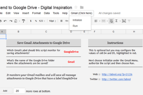 Gmail Spreadsheet Inside Automatically Send Gmail Attachments To Google Drive With This