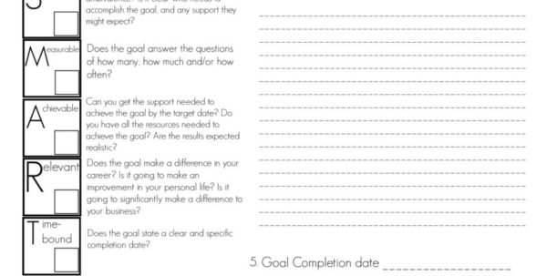 Goal Setting Spreadsheet Template Download Inside 4 Free Goal Setting Worksheets – Free Forms, Templates And Ideas To