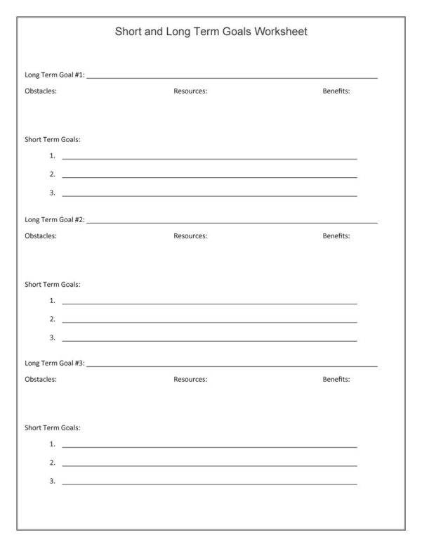 Goal Setting Spreadsheet Template Download With 48 Smart Goals Templates, Examples  Worksheets  Template Lab
