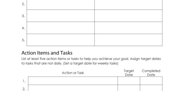 Goals Spreadsheet In 48 Smart Goals Templates, Examples  Worksheets  Template Lab