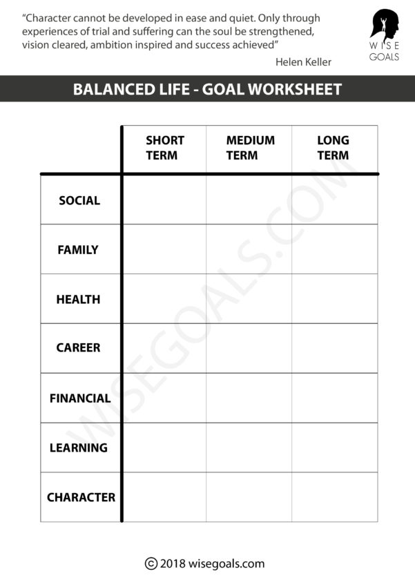 Goals Spreadsheet With 5 Personal Goal Setting Worksheets Printable Pdf
