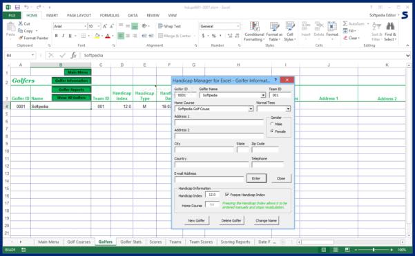 Golf Handicap Spreadsheet Free Regarding Download Handicap Manager For Excel 6.03