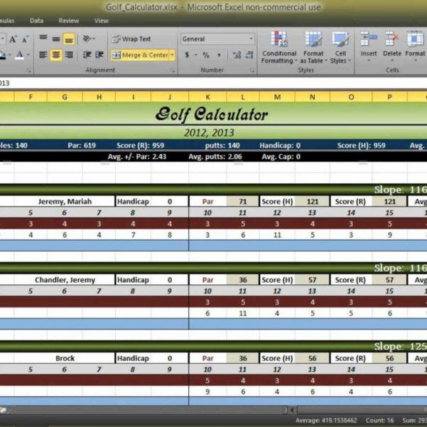 Golf Stat Tracker Spreadsheet Free Intended For Golf Stat Tracker Spreadsheet Stats Excel Best Of Score Tracking