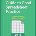 Good Spreadsheet Pertaining To The Visual Guide To Good Spreadsheet Practice