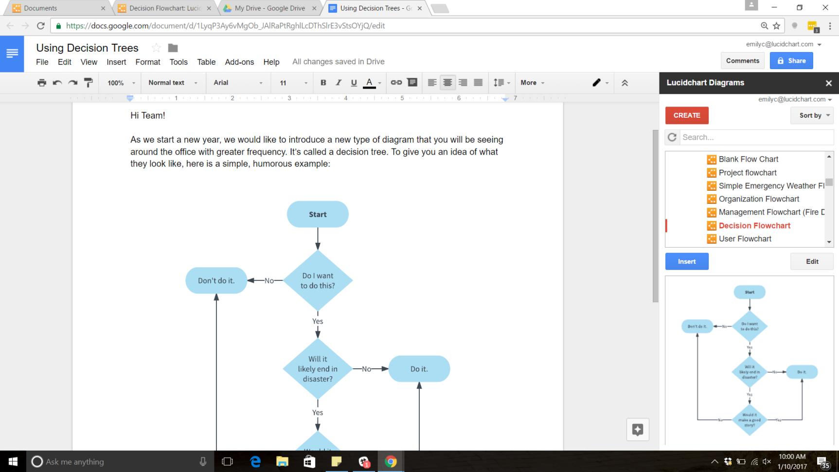 Google Docs Shared Spreadsheet Within How To Make A Tree Diagram In Google Docs  Lucidchart Blog