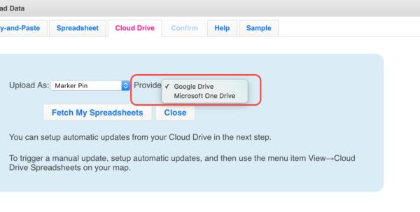 Google Drive Spreadsheet In Use Cloud Drive Spreadsheet Data To Make A Map  Zeemaps