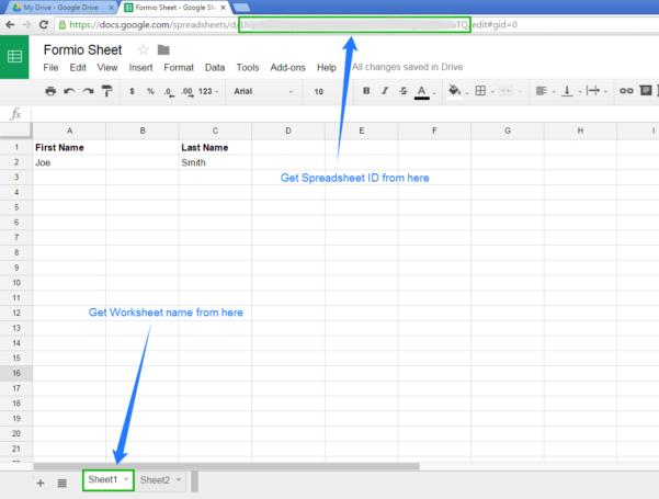 Google Drive Spreadsheet Inside Form.io Help  Developer Info