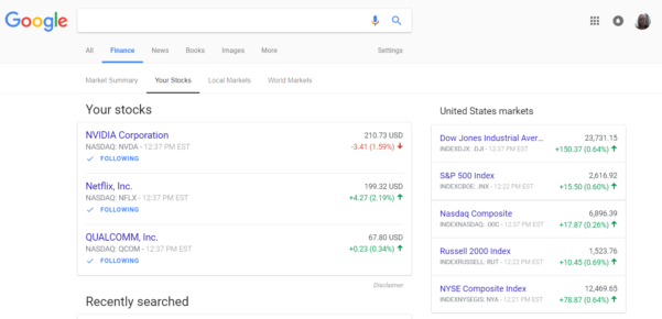 Google Finance Spreadsheet For Google Finance Update Helps You Follow Finances And Stocks