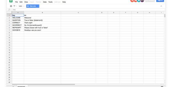 Google Sheets Spreadsheet For Google Sheets Cms Integration  Jovo Docs