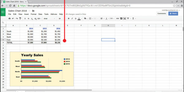Google Sheets Spreadsheet With Regard To 16. Spreadsheets With Google Sheets  My Google Chromebook, Third