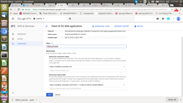 Google Spreadsheet Api Java Example Pertaining To Integrate Google Api Spreadsheet Callback Url On My Production