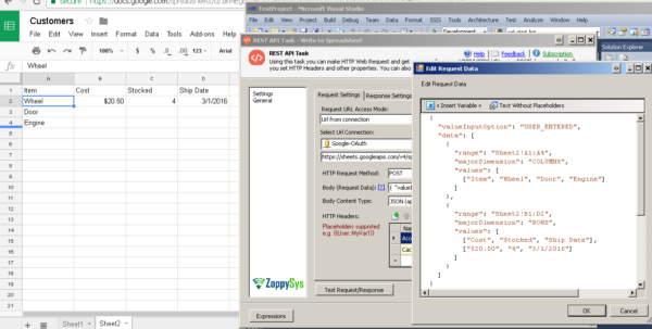 Google Spreadsheet Api With How To Read / Write Google Spreadsheet Using Ssis  Zappysys Blog