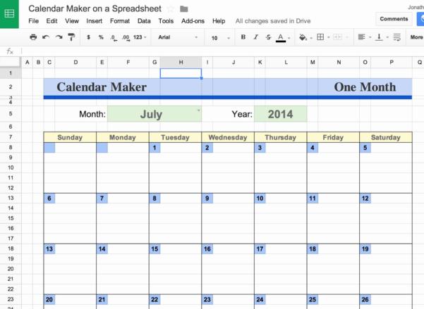 Google Spreadsheet Calendar In Google Spreadsheet Templates Unique Google Docs Calendar Within