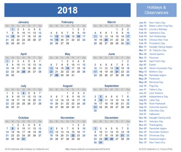 Google Spreadsheet Calendar Template 2018 Throughout 2018 Calendar Templates, Images And Pdfs
