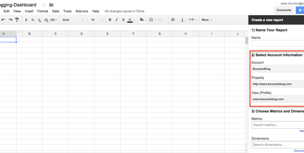 Google Spreadsheet Dashboard Pertaining To How To Create A Custom Business Analytics Dashboard With Google