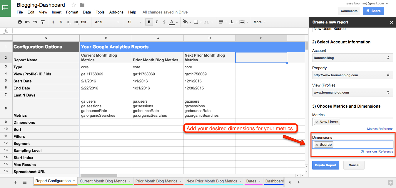Google Spreadsheet Dashboard Template In How To Create A Custom Business Analytics Dashboard With Google