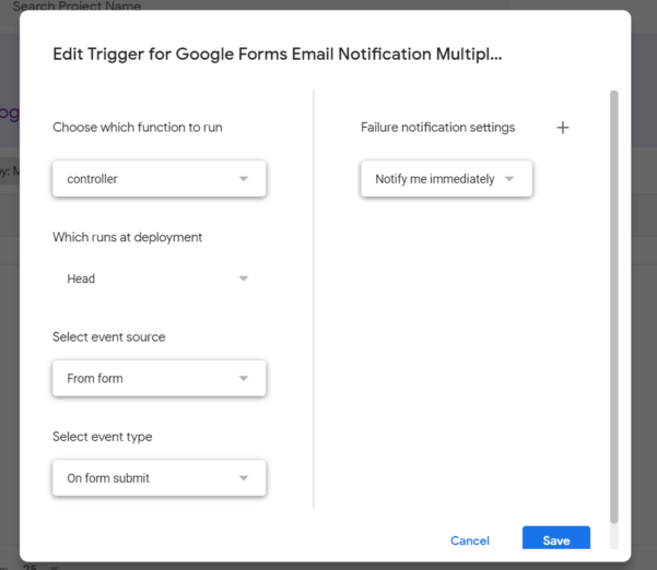 Google Spreadsheet Email Notification Script Pertaining To Google Forms Email Notification Multiple Recipients/submitter