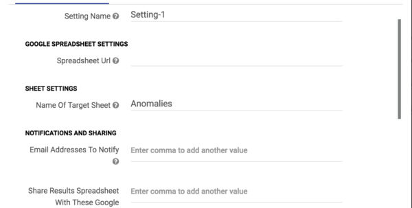 Google Spreadsheet Email Notification Script Throughout Optmyzr — Anomaly Detector  User Guide