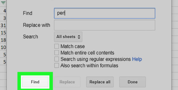 Google Spreadsheet Find Intended For How To Search In Google Sheets On Pc Or Mac: 7 Steps Google Spreadsheet Find Printable Spreadsheet