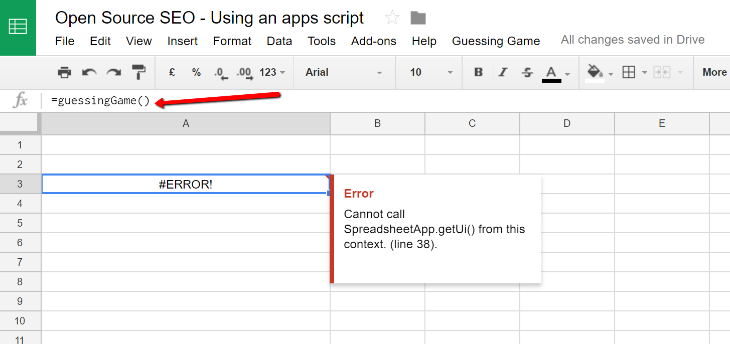 Google Spreadsheet Functions In Introduction To Google Apps Scripts  Open Source Seo