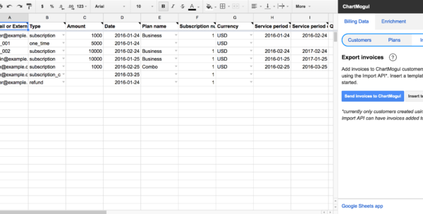 Google Spreadsheet Help Regarding Import Billing System Data From A Google Sheet – Help Center
