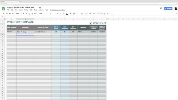 Google Spreadsheet Inventory Template With Regard To Top 5 Free Google Sheets Inventory Templates · Blog Sheetgo
