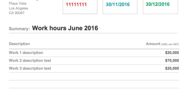 Google Spreadsheet Invoice Template Throughout Custom Design Google Doc Invoice Theme  Xfive