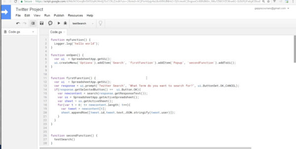 Google Spreadsheet Json Api Throughout Google Script Application Connecting To Twitter Api And More  Udemy Google Spreadsheet Json Api Google Spreadsheet