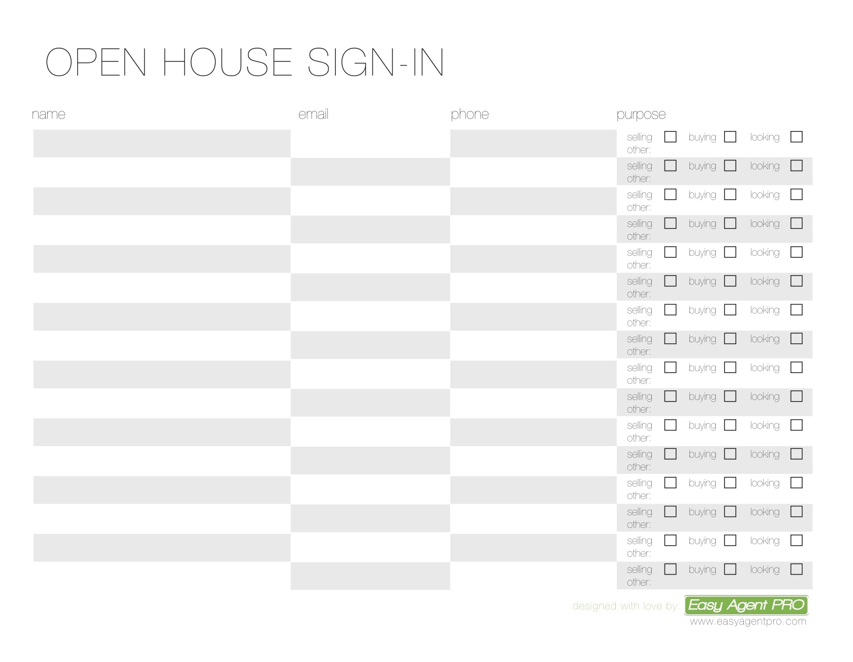 Google Spreadsheet Login Intended For Open House Sign In Sheet Printable Templates Free  Ready For Use