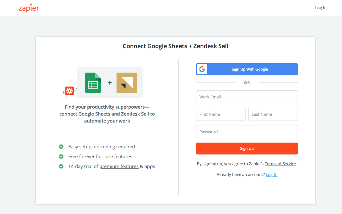 Google Spreadsheet Login With Regard To Automatically Create Zendesk Sell Leads From Google Spreadsheets And