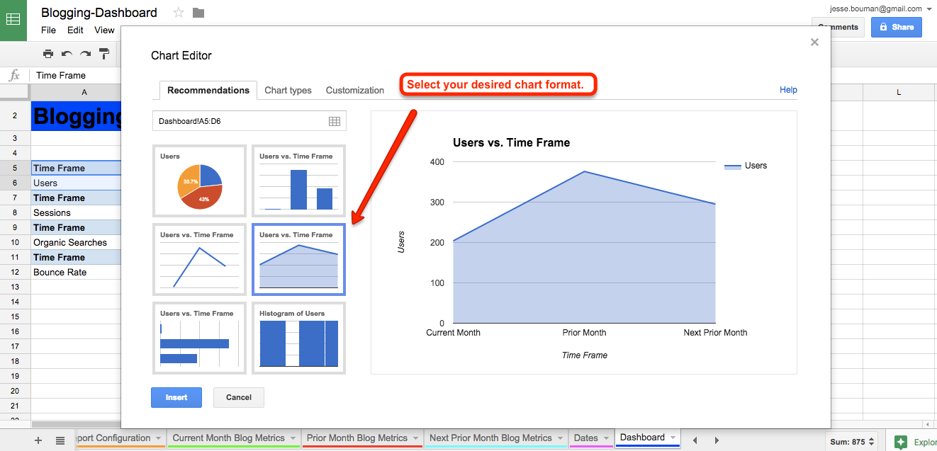 Google Spreadsheet Maken Intended For How To Create A Custom Business Analytics Dashboard With Google