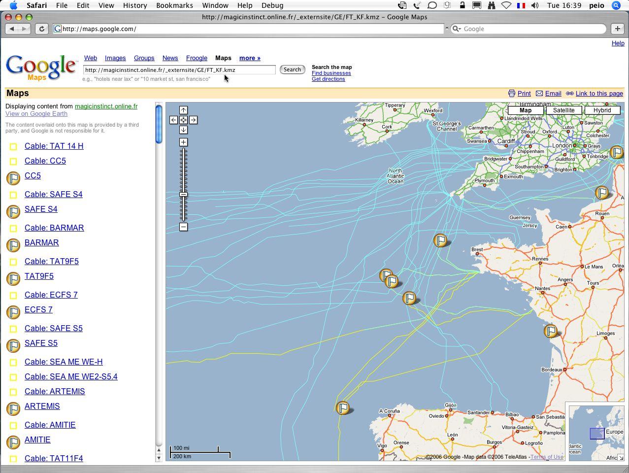 Google Spreadsheet Mapper Within Google Ocean : Marine Data For Google Maps / Google Earth