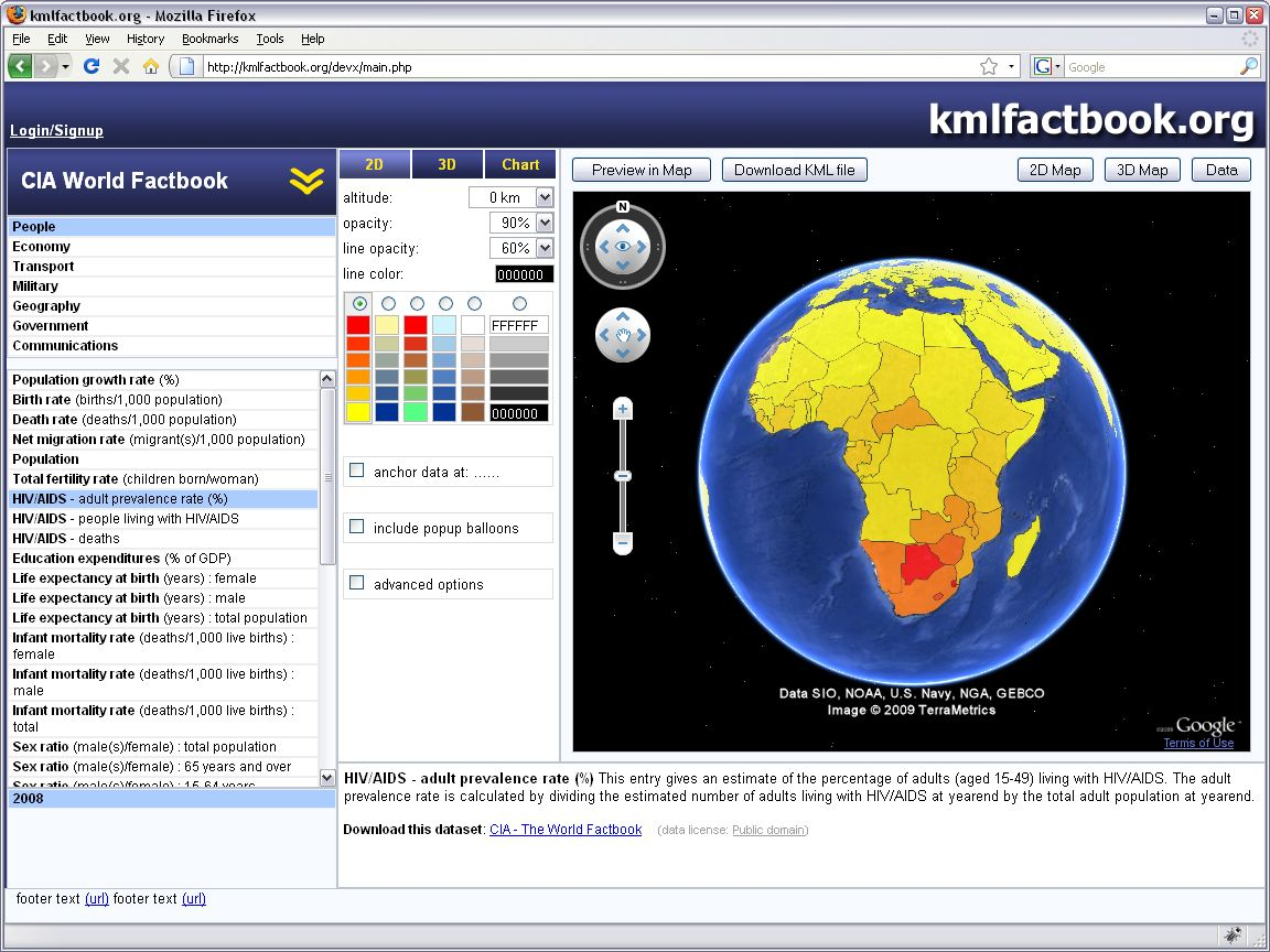 Google Spreadsheet Mapper Within Kmlfactbook : Help  About