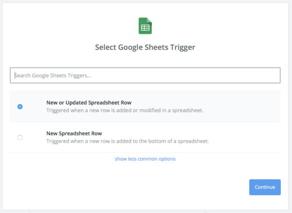 Google Spreadsheet Search Inside Guide: Using Google Sheets Through Zapier  Databox Help Desk
