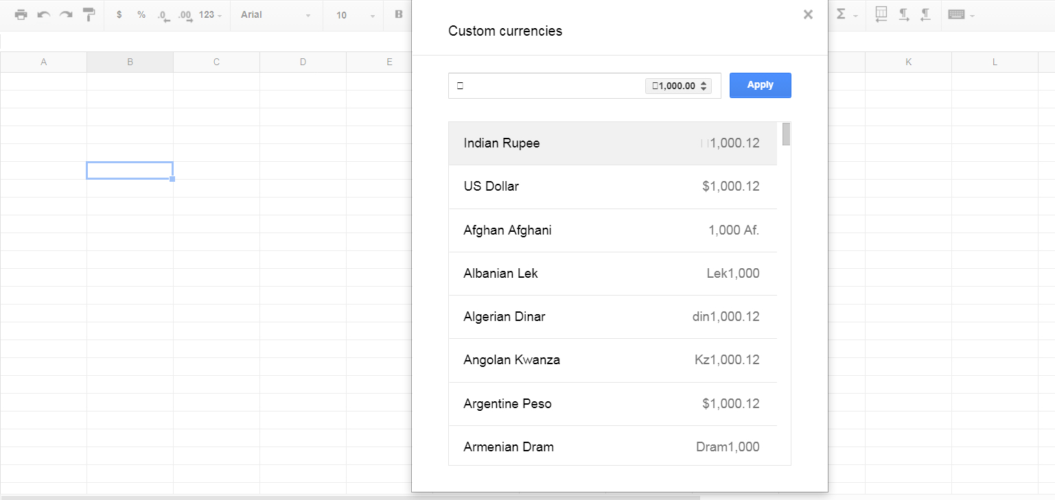 Google Spreadsheet Sign In With Regard To How To Add Indian Rupee Currency Symbol In Google Spreadsheet
