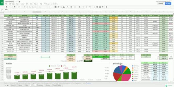 Google Spreadsheet Stock Tracker With Regard To Stock Tracking Spreadsheet Simple Xls Google Dividend  Askoverflow