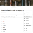 Google Spreadsheet Survey Form Intended For Google Forms  Features, Pricing, Alternatives, And More  Zapier