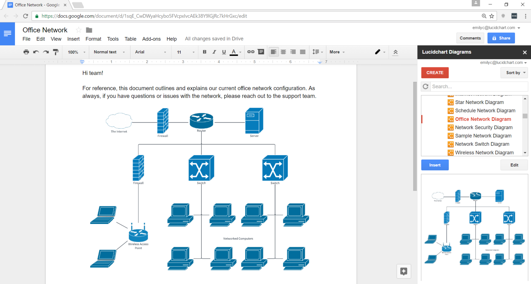 Google Spreadsheet Templates Create With How To Make A Flowchart In Google Docs  Lucidchart