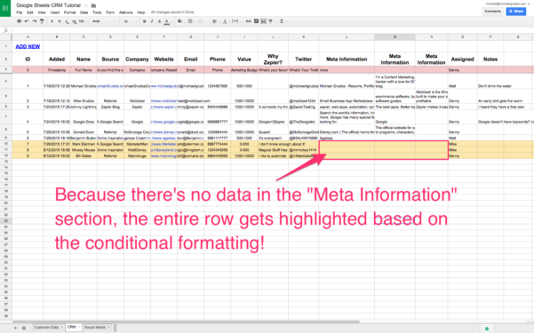 Google Spreadsheet Website Database In Spreadsheet Crm: How To Create A Customizable Crm With Google Sheets