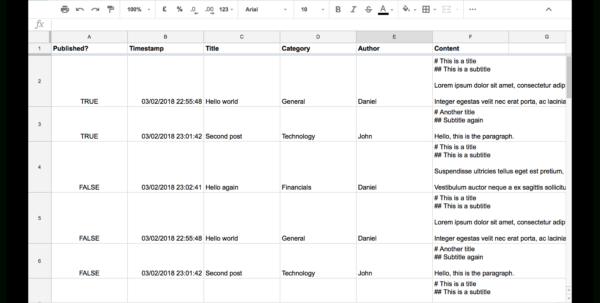 Google Spreadsheet Website Database Intended For How To Use Google Sheets And Google Apps Script To Build Your Own